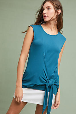 Slide View: 1: Dayla Tie-Front Tunic