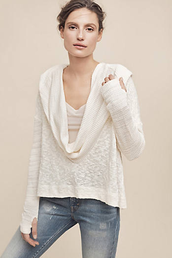 Almeria Hooded Cowl Top