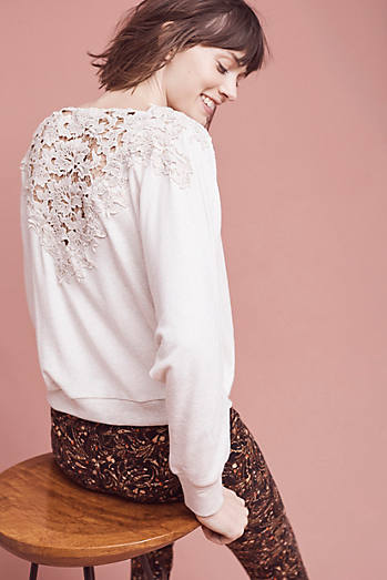 Bria Lace-Back Sweatshirt