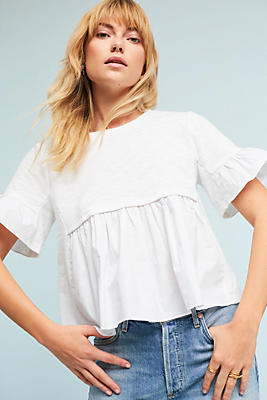 Slide View: 1: Calina Poplin Top