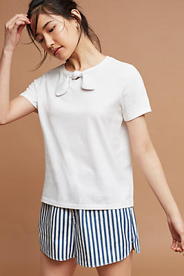Slide View: 1: Tie-Neck Tee