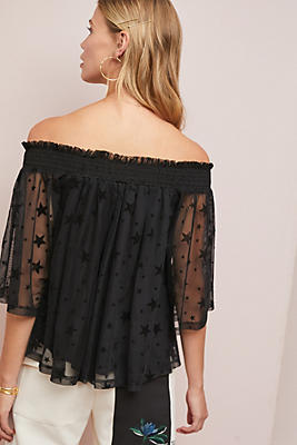 Starry Off The Shoulder Top by Maeve
