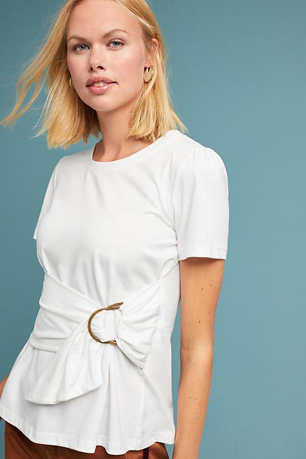 Dakota Wrap Top - White, Size L