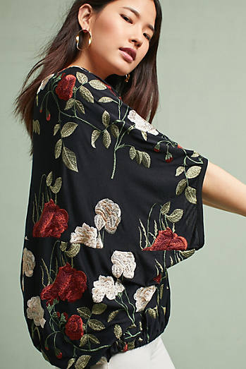 Allora Embroidered Top