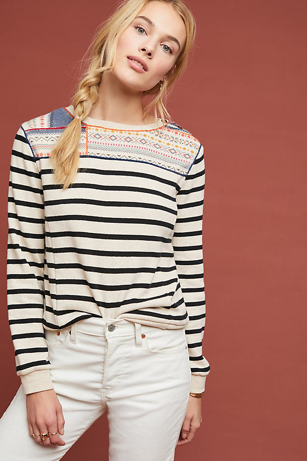 Finn Striped Sweatshirt - Assorted, Size Xs