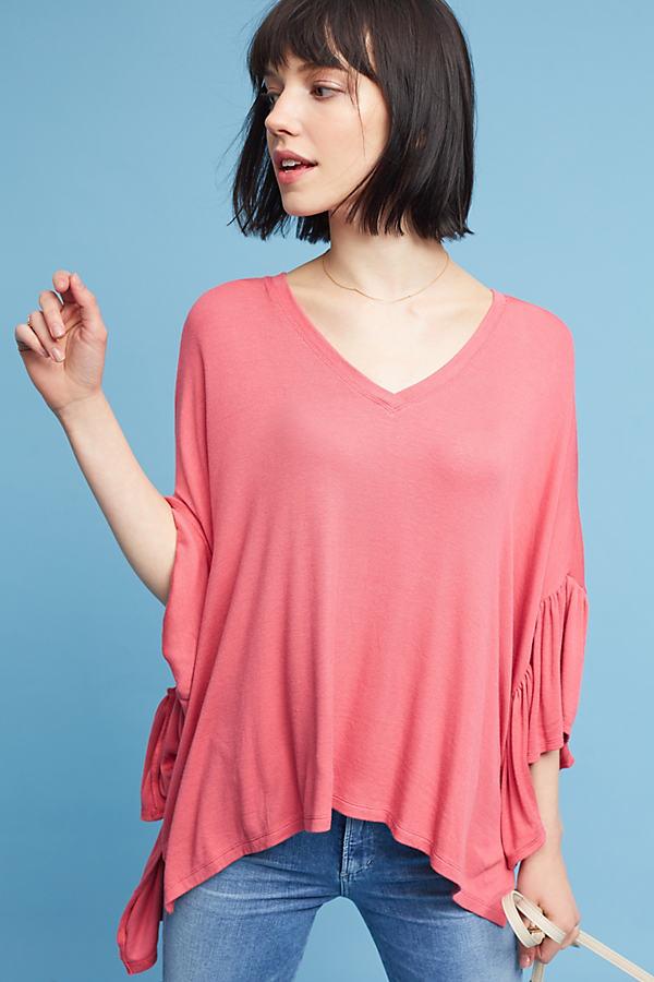 Julianne Fluttered Tunic, Black - Pink, Size M/l