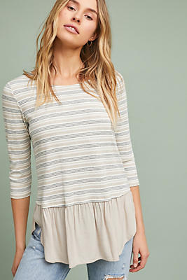 Slide View: 1: Ambergris Striped Top