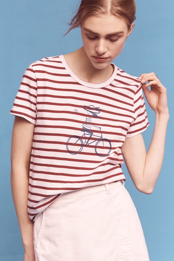 Sundry Cyclist Striped Top