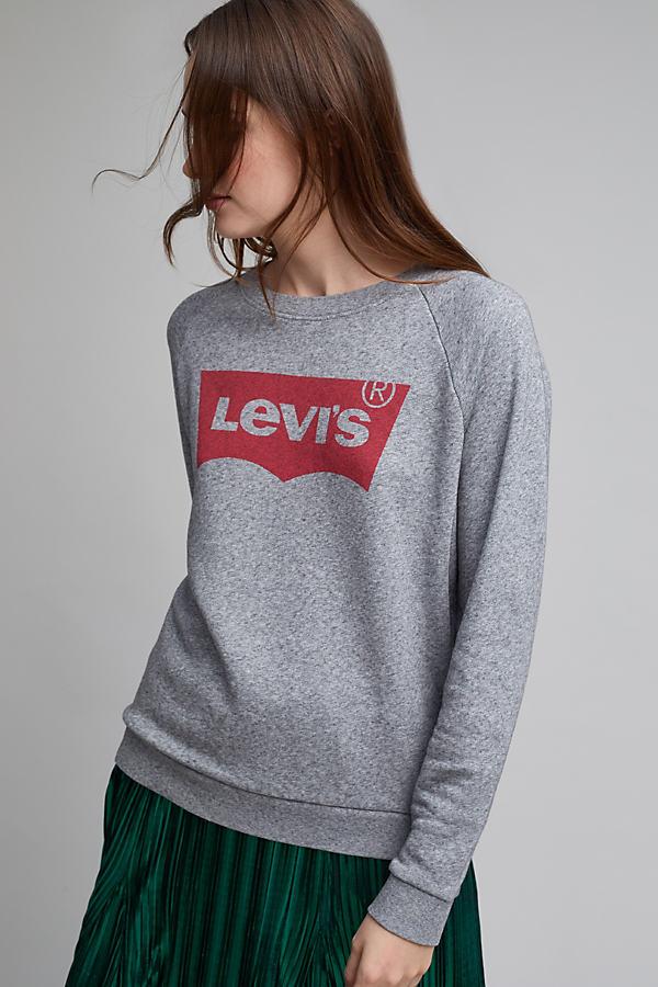 Levi's Classic Logo Sweatshirt, Grey Marl - Grey, Size M