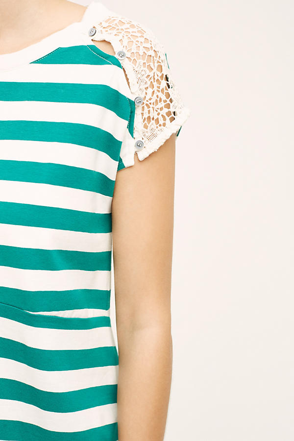 Slide View: 3: Lace Epaulet Tee