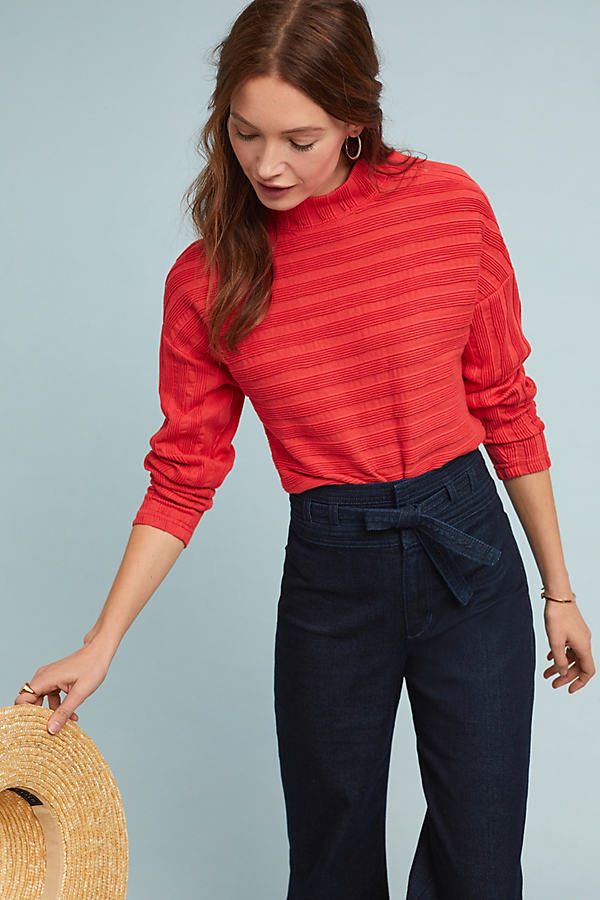Wren Pullover Jumper - Red, Size M