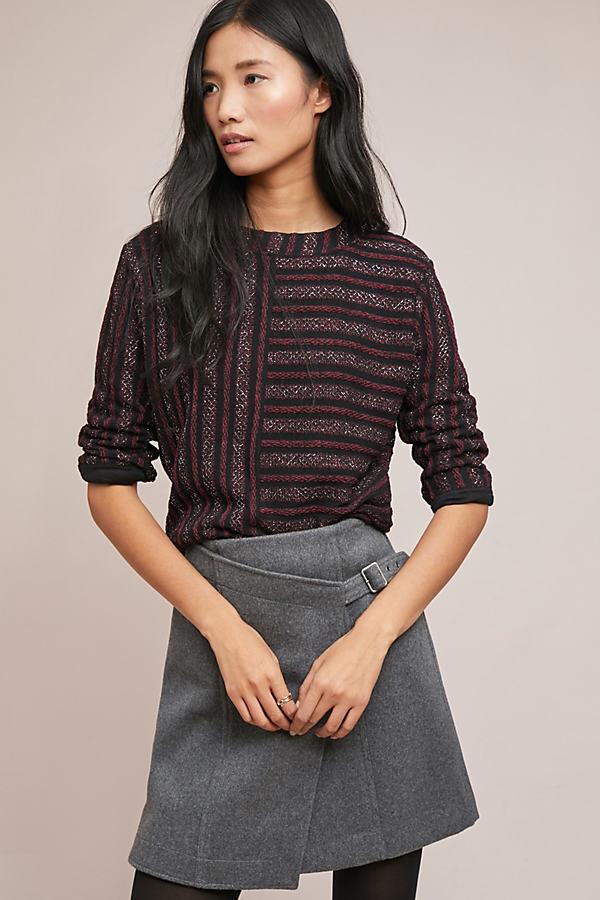 Celeste Striped Top - Purple, Size Xl