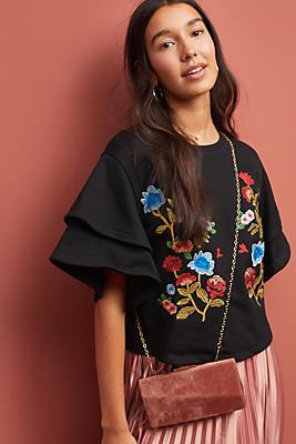 Slide View: 1: Morelia Embroidered Top