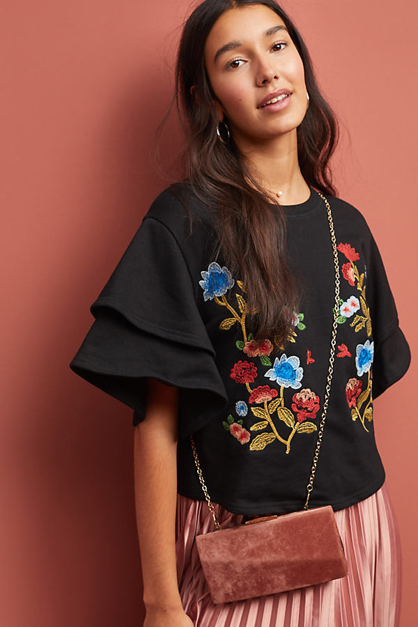 Morelia Embroidered Top - Black, Size L