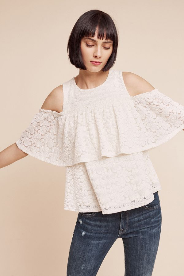 Deletta Lileas Open-Shoulder Top
