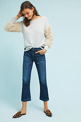 Slide View: 1: Calista Faux Fur Sweatshirt