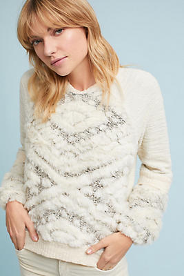 Slide View: 4: Texture-Stitched Sweatshirt