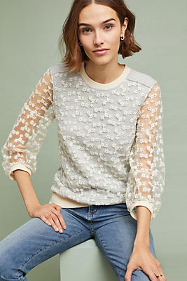 Slide View: 1: Daisy Lace Pullover