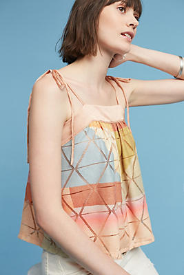 Slide View: 1: Abstract Geo Blouse