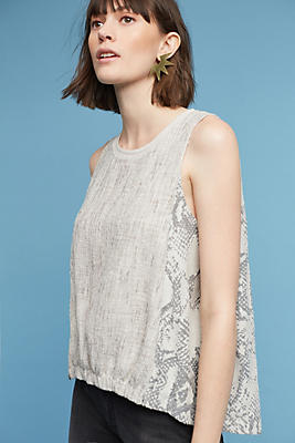 Slide View: 1: Marietta Sleeveless Cocoon Top