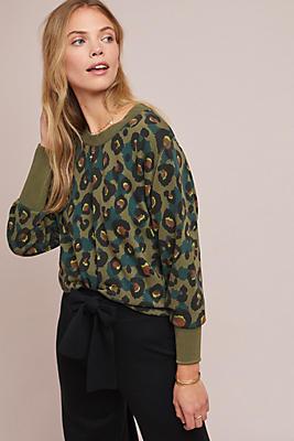 Slide View: 1: Wild Leopard Sweatshirt