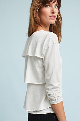 Slide View: 3: AMO Ruffle-Back Tee