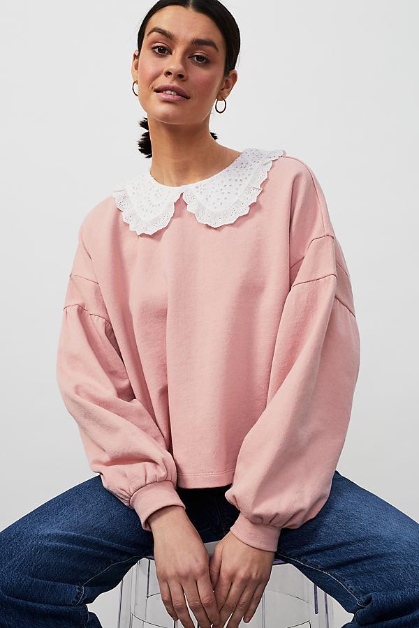 Jessie Frill Collar Sweatshirt