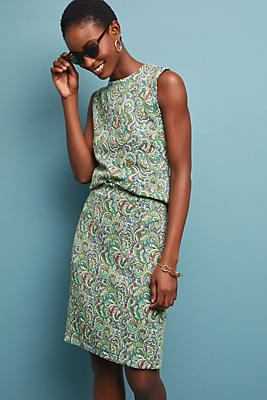 Slide View: 1: Sleeveless Paisley Top
