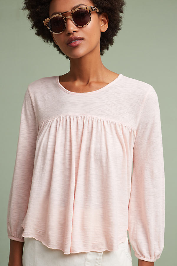 Dawn Scoop-Neck Peasant Top, Pink - Pink, Size Xs