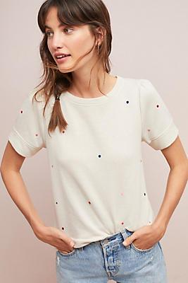 Slide View: 1: Star-Embroidered Sweatshirt Tee