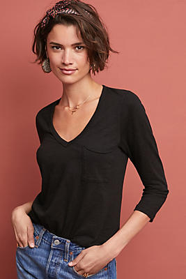 Slide View: 1: Casual V-Neck Top