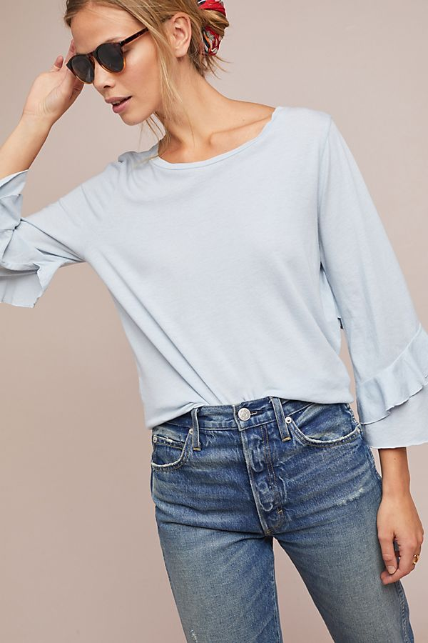 Slide View: 1: Chelsea Ruffled Tee