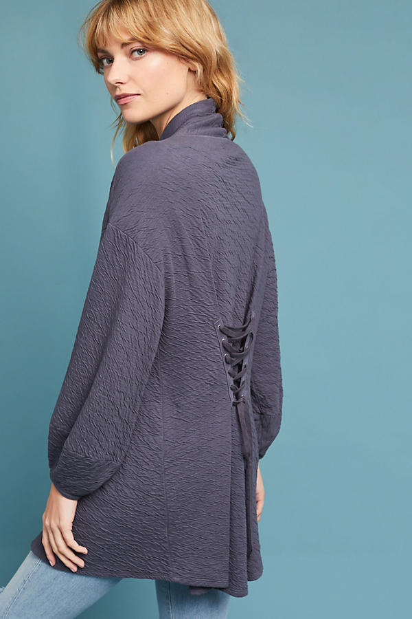 Slide View: 4: Corset-Back Cardigan