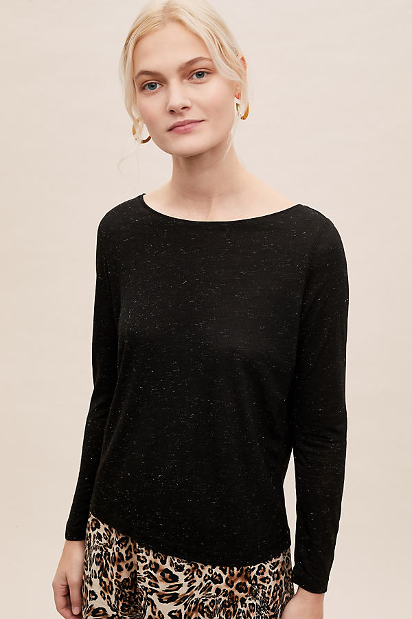 Kelly Long Sleeve Tee - Black, Size Uk 6