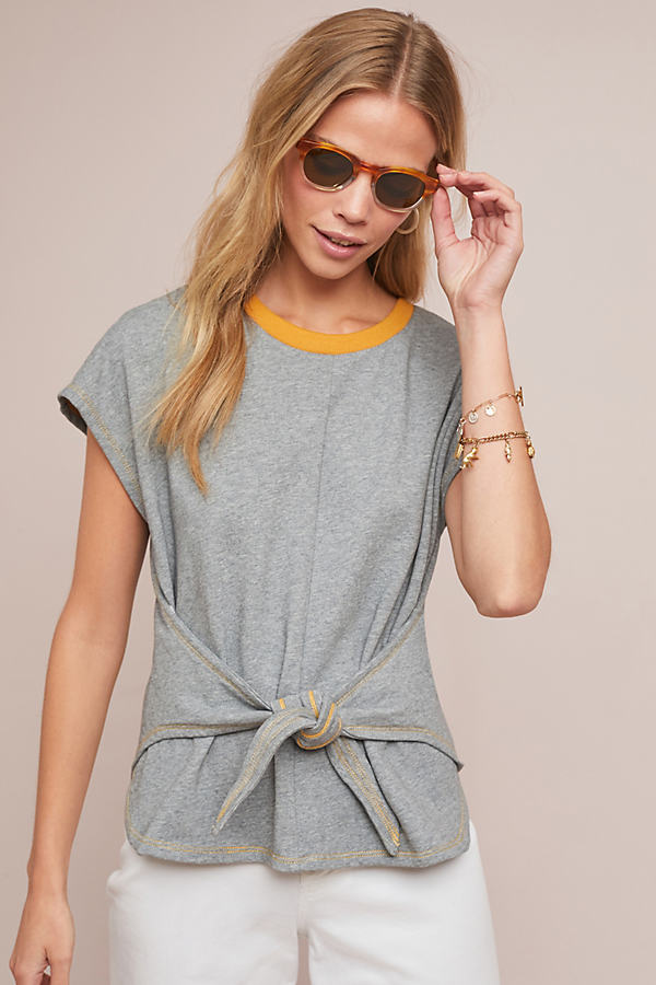 Two-Toned Tee - Grey, Size L