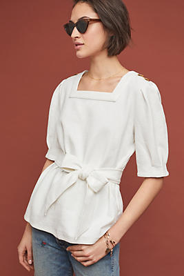 Slide View: 1: Barnette Puff-Sleeved Top
