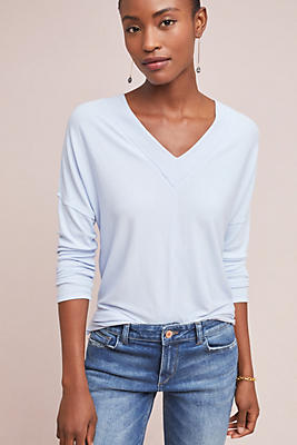 Slide View: 1: Double V-Neck Top