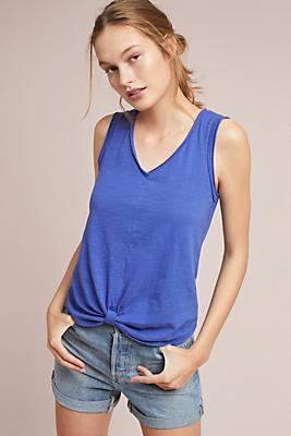 Slide View: 1: Gatineau Knotted Tank Top