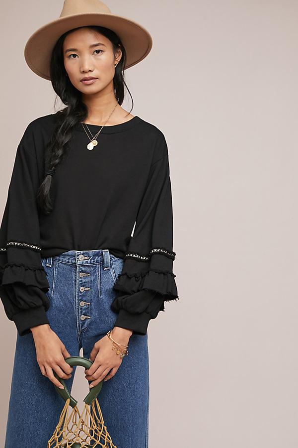 Junie Sweatshirt - Black, Size Xs