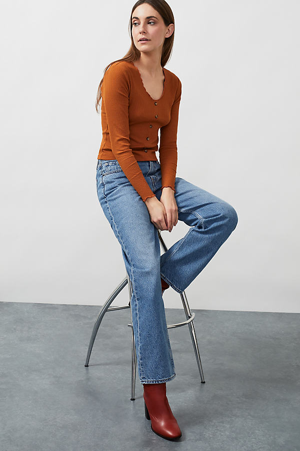 Ribbed Organic Cropped Top