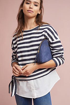 Slide View: 1: Ally Striped Sweatshirt