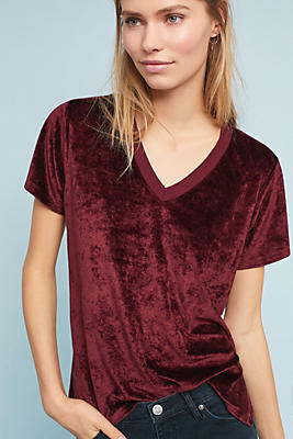 Slide View: 1: Michael Stars Slouched V-Neck Tee