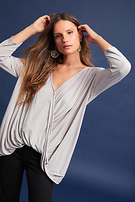 Slide View: 1: Michael Stars Draped Wrap Top