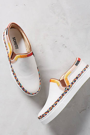 Schutz Tirian Embroidered Sneakers
