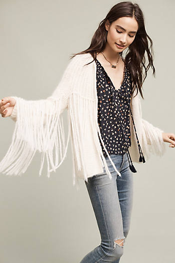 Fringed Walker Cardigan