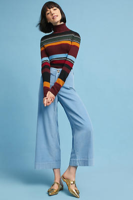Image result for womens levis 2017 with striped orange turtle neck
