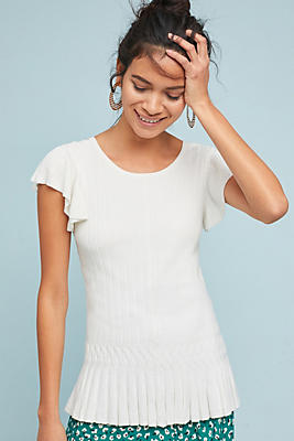 Slide View: 1: Annecy Flutter-Sleeve Top