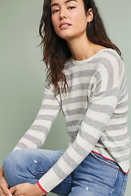 Slide View: 1: Raelynne Striped Pullover