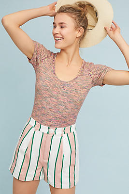 Slide View: 2: Ribbed Sweater Tee