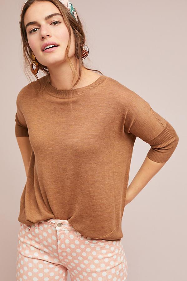 Wilhelmina Wool Tunic - Yellow, Size L